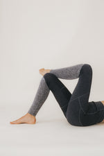 archive MITSOS Coated Leggings Dark Grey Combi