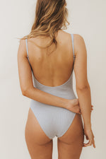 SARA Feather Weight Bodysuit in Mist