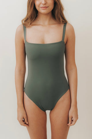 ESTHER Box-Cut One Piece Safari