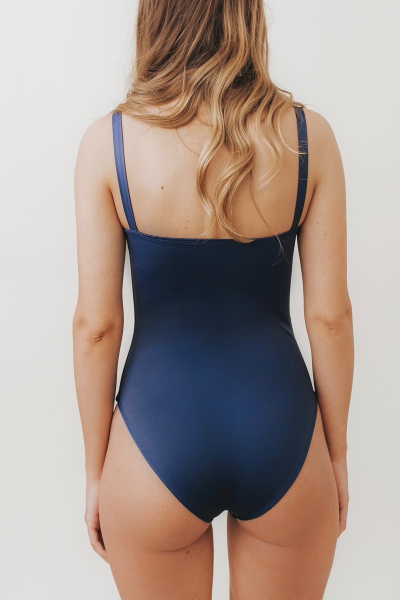 ESTHER Box-Cut One Piece Navy