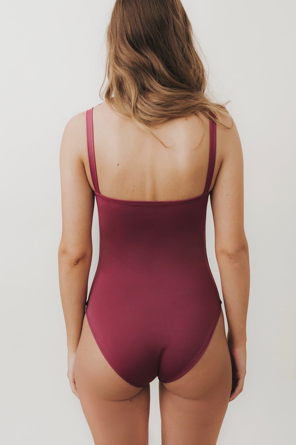 ESTHER Box-Cut One Piece Swimsuit Mulberry