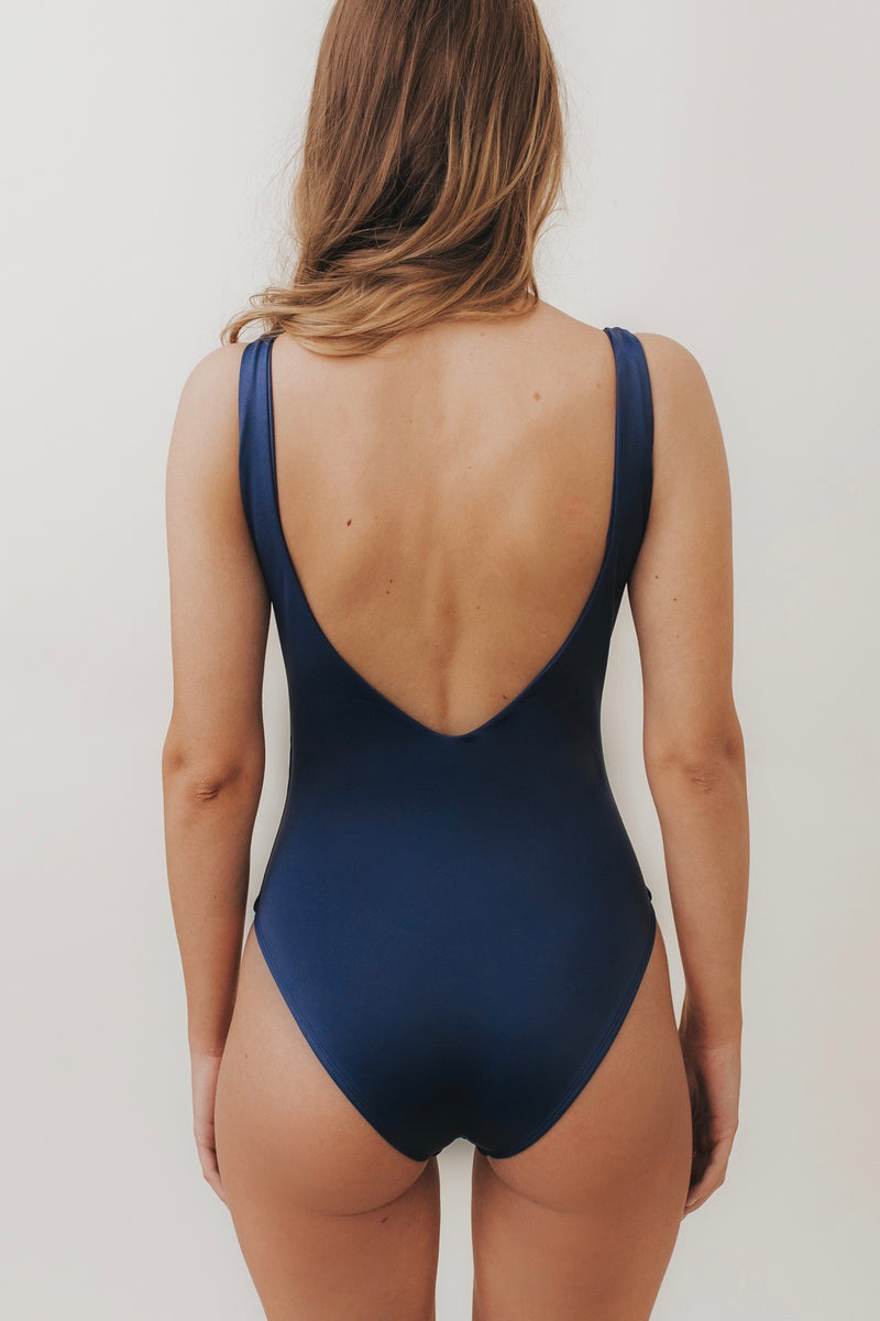 LEA V-Plunge One Piece Navy