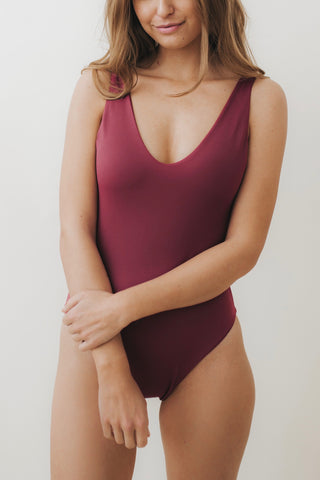 LEA V-Plunge One Piece Mulberry