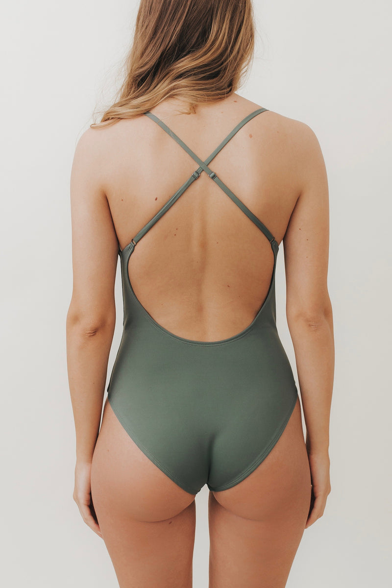 HEIKI Crossed-Back One Piece Safari