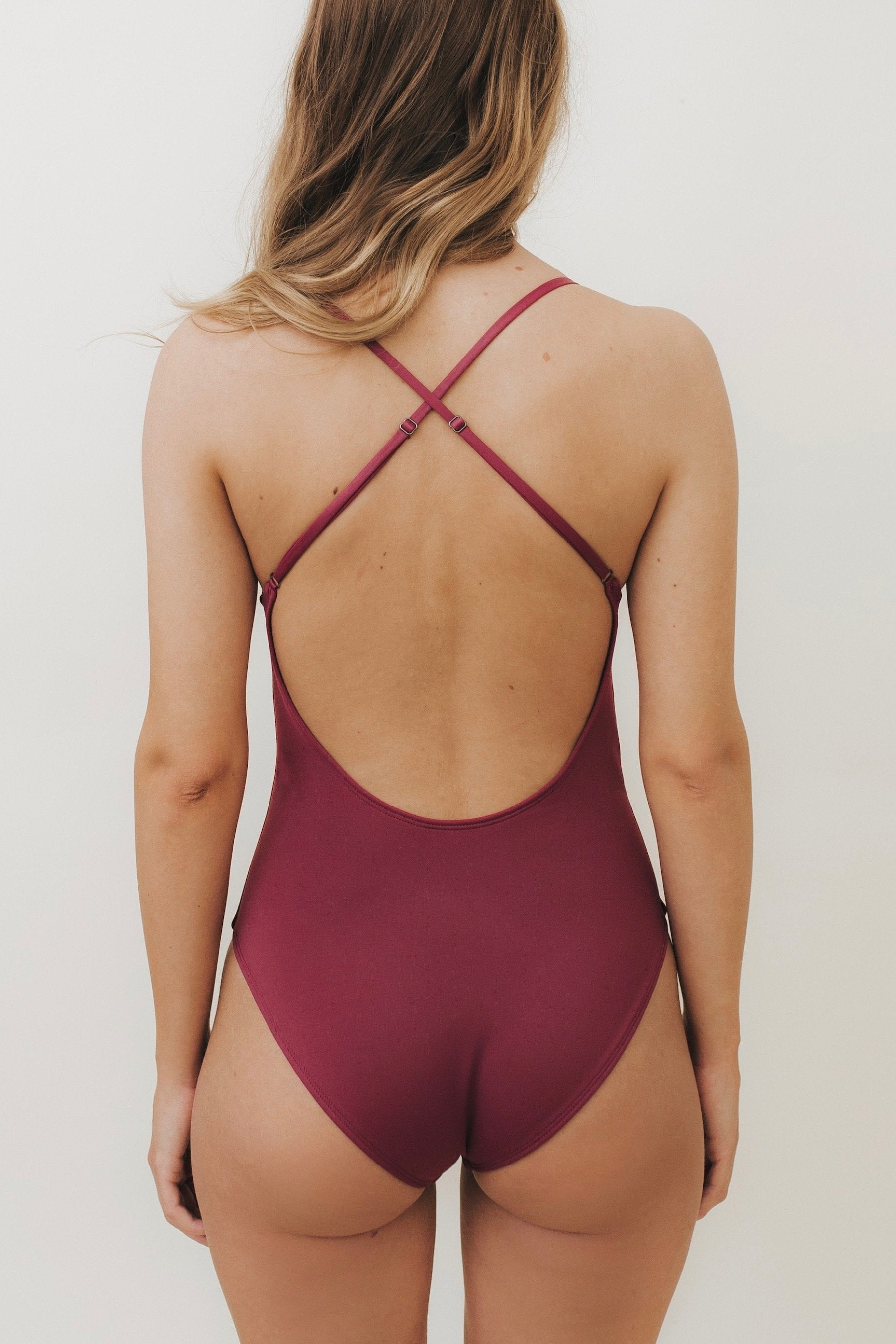 HEIKI Crossed-Back One Piece Mulberry