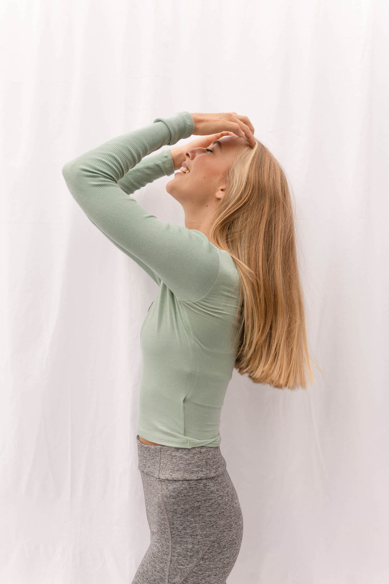 LAGOM Long Sleeved Top in Mint