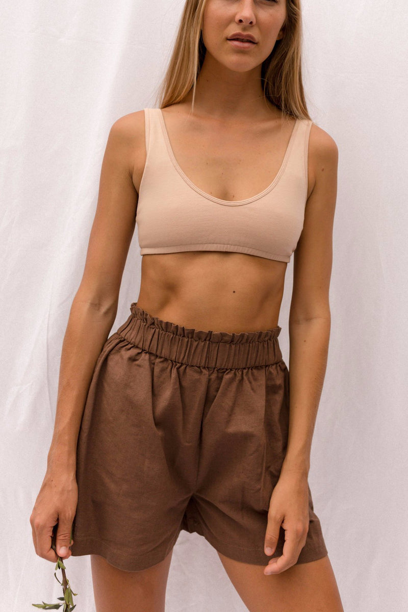 MILOU Scooped Bralette in Ecru