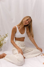 MILOU Scooped Bralette in White