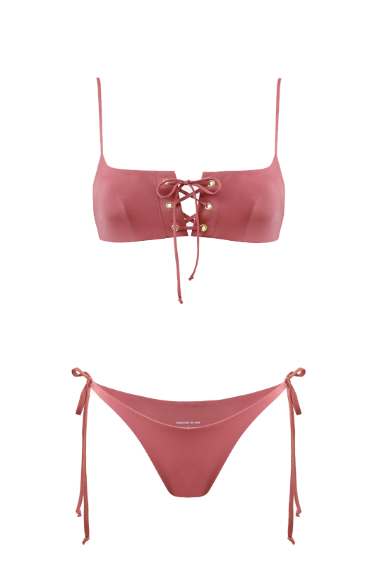 MIRA Bikini Top in Dusty Rose
