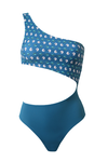GABI Trikini in Flower Knot Blue