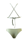 TASSOS Triangle Bikini Top in Metallic Moss