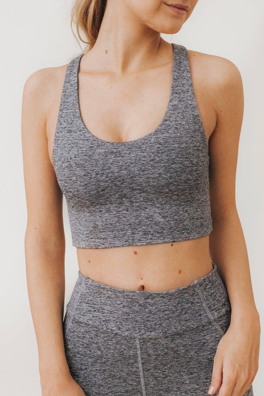 AGNES Cut-Out Bralette in Smoke