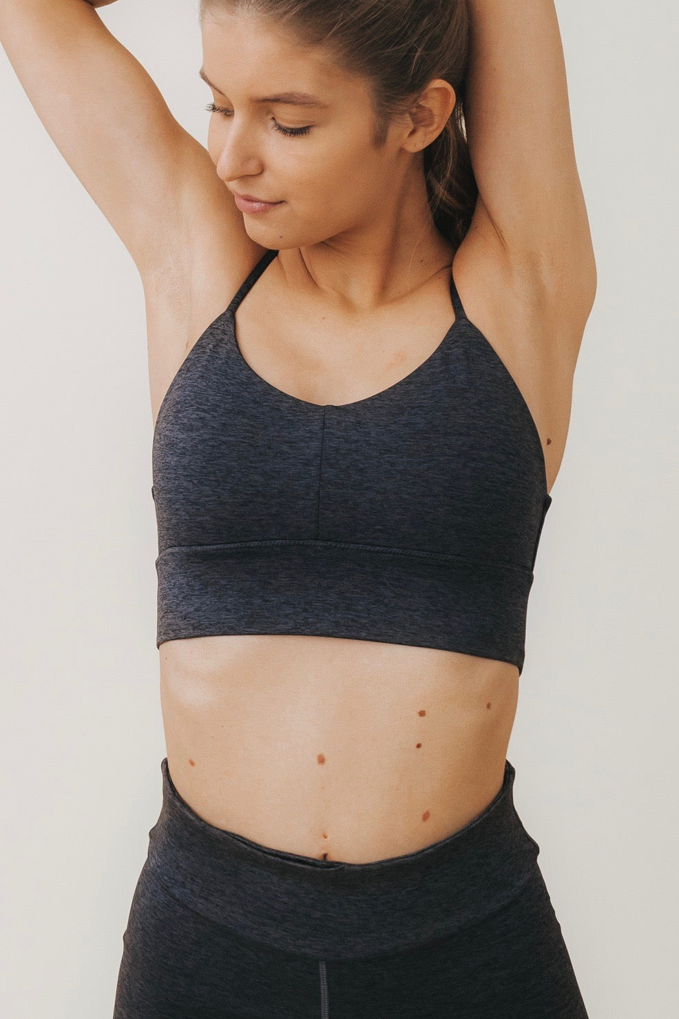 LENA Sports Bralette in Charcoal