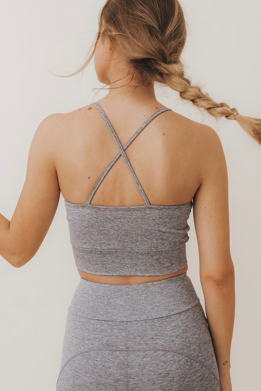 NORA Crossed-Back Bralette Melange