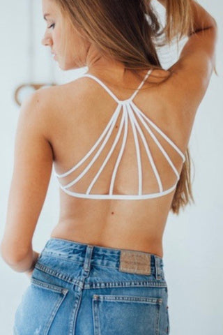 AGNES Cut-Out Bralette Melange