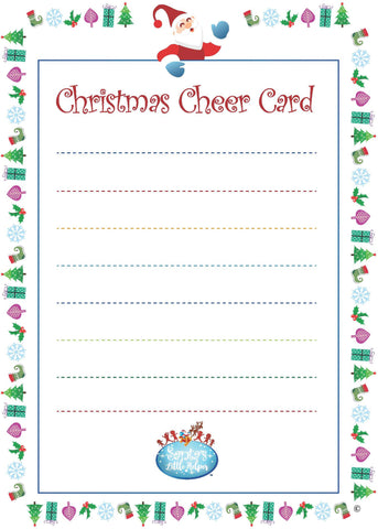 Christmas Cheer Cards (Qty 5)