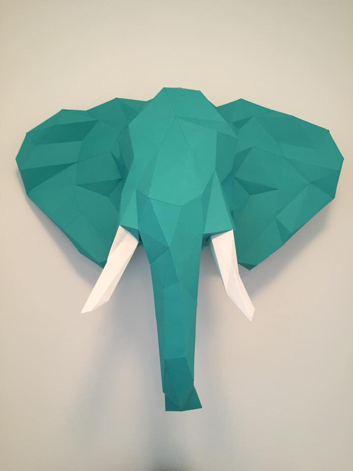 Diy Low Poly Paper Elephant Sculpture Low Poly Crafts