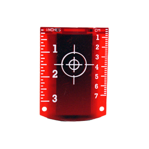 Linestorm Magnetic Red Laser Target For Use With Laser Levels