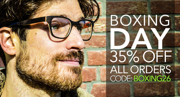 Boxing day 35% OFF All wood Sunglasses & wood Eyeglasses.