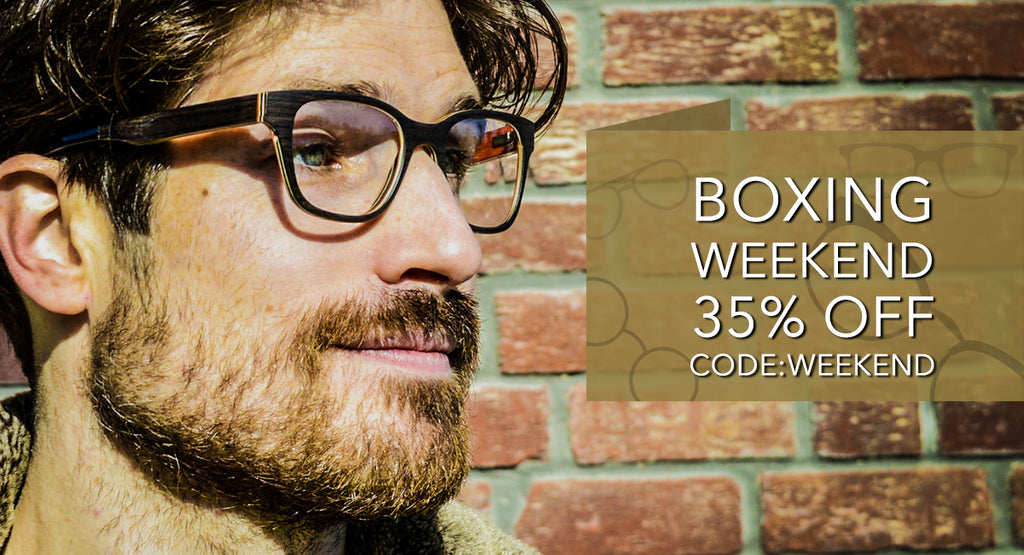 Boxing Weekend 35% Off All Wood Sumglasses and Eyeglases
