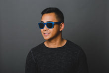 Load image into Gallery viewer, Classic Wayfarer Skateboard Wood Sunglasses - Royal Blue