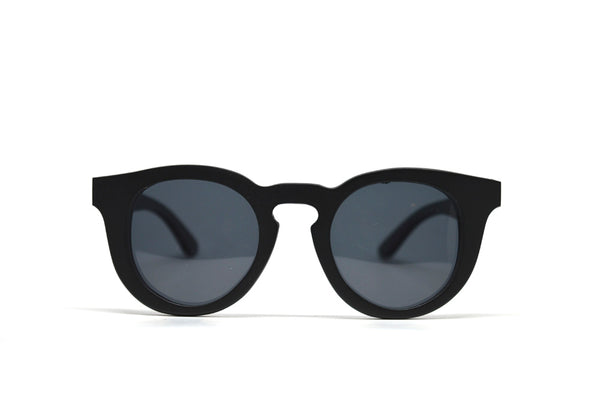 Cat Eye Keyhole Sunglasses - Black Bamboo