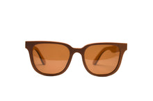 Load image into Gallery viewer, Rectangular Skate Wood Sunglasses - Brown with Brown Lenses