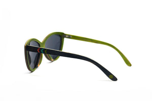 Cateye Skate Wood Sunglasses - Slate Gray