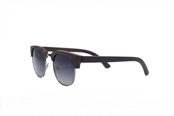 Semi Frame Sunglasses - Ebony Wood
