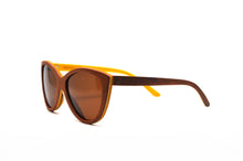 Load image into Gallery viewer, Cateye Skate Wood Sunglasses - Brown