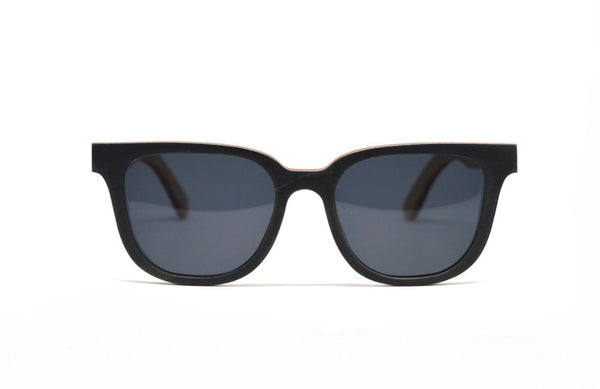 Rectangular Skate Wood Sunglasses - Slate Gray