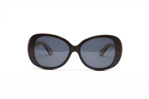 Vintage Oversized Wood Sunglasses - Ebony & Oak