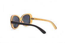 Load image into Gallery viewer, Vintage Oversized Wood Sunglasses - Ebony & Oak