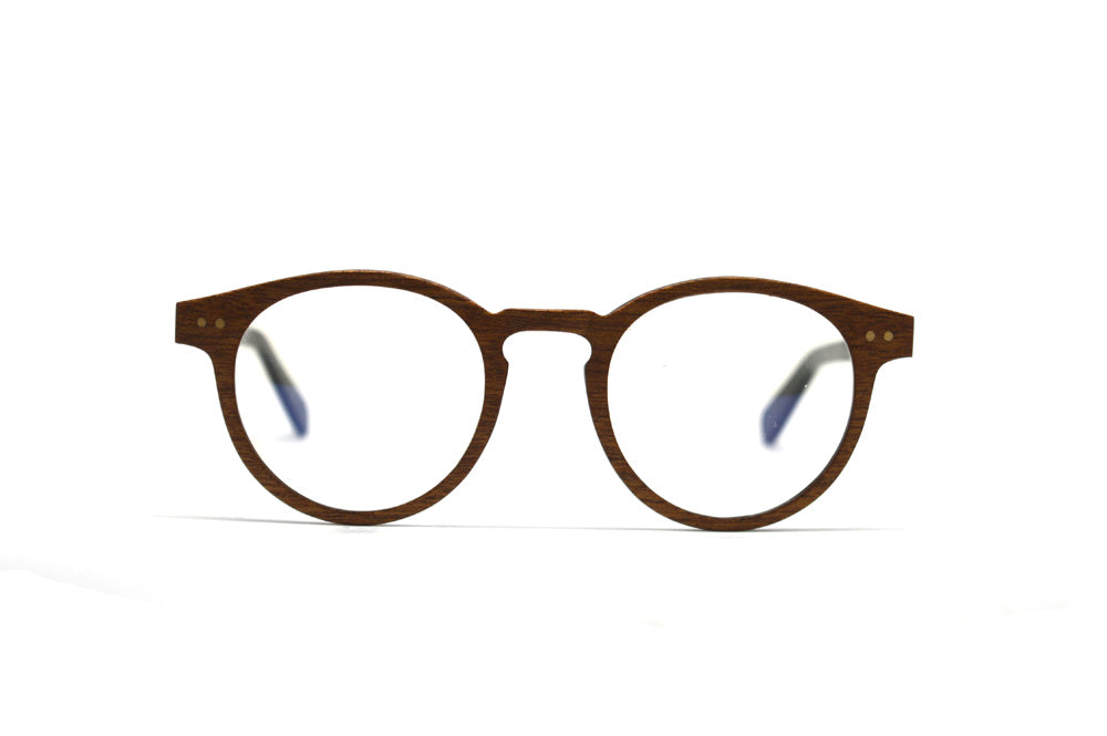 Round Optical Frames - Sapele Wood