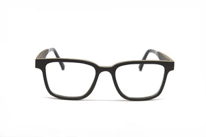 Rectangular Wood Optical Frame - Black Oak