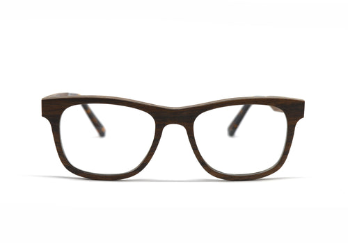 Wayfarer Eyeglass Frames - Cherry Wood