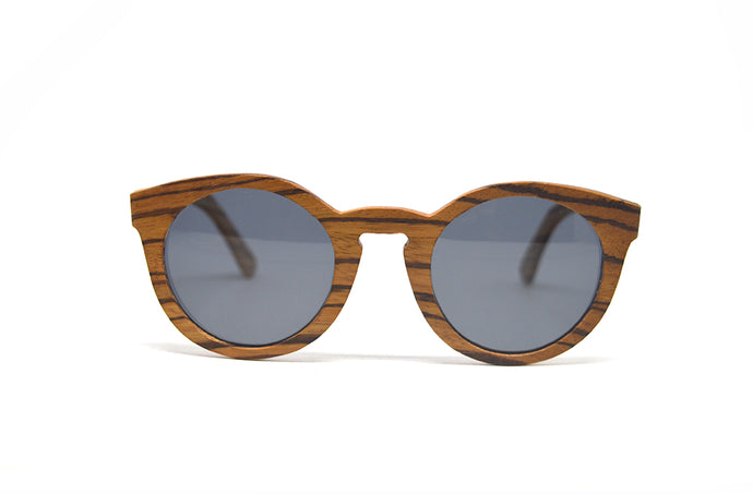 d4f6760bcb Cat Eye Keyhole Sunglasses - Zebra Wood