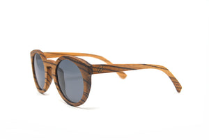 Cat Eye Keyhole Sunglasses - Zebra Wood
