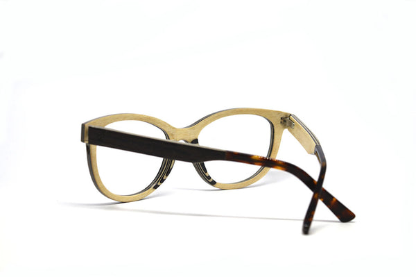 Cat Eye Vintage Optical Frames - Ebony Wood for $138.00 at Keepwood Eyewear