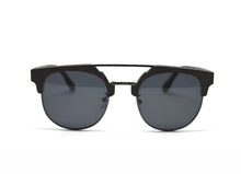 Load image into Gallery viewer, Double Metal Bridge Sunglasses - Ebony Wood