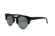Load image into Gallery viewer, Black Bamboo Semi Rim Sunglasses