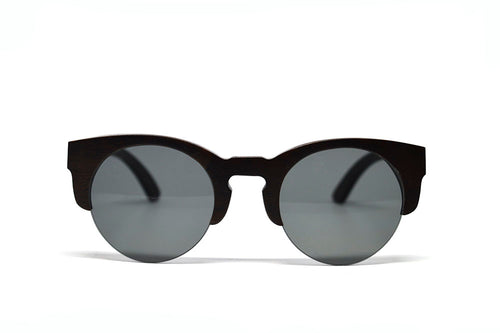 Black Bamboo Semi Rim Sunglasses