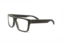 Load image into Gallery viewer, Square Frame Wood Eyeglasses - Black Oak