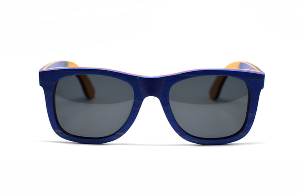 Skateboard Wood Wayfarer - Blue for <span class=money>$93.75</span> at Keepwood Eyewear