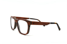 Load image into Gallery viewer, Wayfarer Eyeglass Frames - Red Sandalwood - Keepwood Eyewear