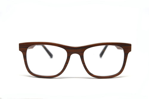 Wayfarer Eyeglass Frames - Red Sandalwood - Keepwood Eyewear