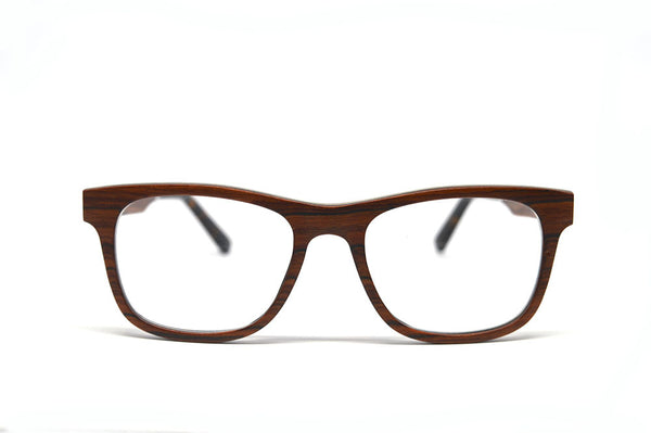 Wayfarer Eyeglass Frames - Red Sandalwood for $103.50 at Keepwood Eyewear