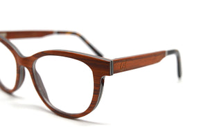 Cat Eye Vintage Optical Frames - Cherry Wood