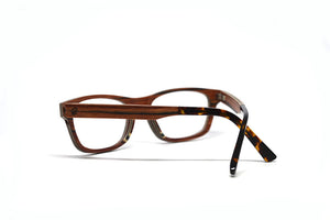 Classic Wooden Optical Frame - Rosewood - Keepwood Eyewear