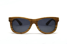 Load image into Gallery viewer, Classic Wayfarer Style Sunglasses - Solid Zebra Wood - Keepwood Wood Sunglasses